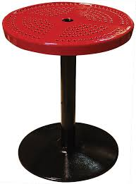 24 round pedestal table 24 round perforated pedestal table 30 h perforated picnic