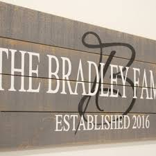 wedding gift name sign personalized name sign wedding gift from rusticlyinspired on etsy