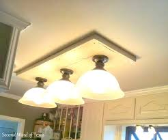 Fluorescent Light Kitchen Replace Fluorescent Light Fixture With Led Replace Fluorescent
