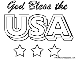 fourth july usa coloring pages preschool kindergarten