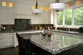 Classic Kitchen Backsplash Backsplashes Black Subway Tiles In Kitchen Backsplash Design