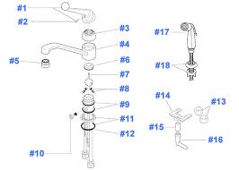 kitchen faucet repair kits delta faucet repair parts diagram for kitchen faucets inside