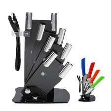 online get cheap kitchen knives in holder aliexpress com kitchen knife cutlery storage black knife holder stand for 3
