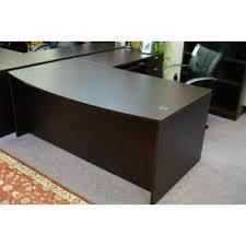Espresso Office Desk New Espresso Bow Front L Shape Desk Sk Office Furniture