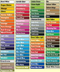 spray paint color chart real fitness