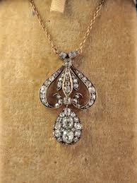 vintage diamond pendant necklace images Edwardian 5 00 ct diamond lavish antique pendant necklace jpg