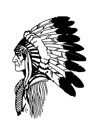 free coloring page coloring simple native american profile simple