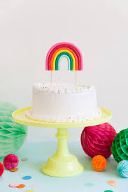 cake diy diy rainbow cake topper tell and party