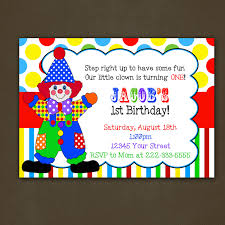 diy circus birthday invitations u2014 liviroom decors the circus