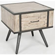 grey washed end tables jofran 1640 3 american retrospective end table w grey wash