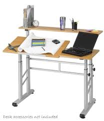 2 level computer desk safco height adjustable level drafting table 3965mo