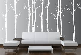 Tree Wall Decal For Nursery Large Wall Birch Tree Nursery Decal Forest Vinyl Sticker
