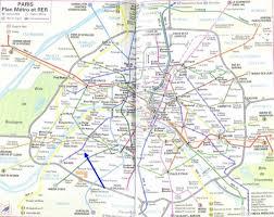 Map Of Paris Metro by Apt Desfaudais My Apartment