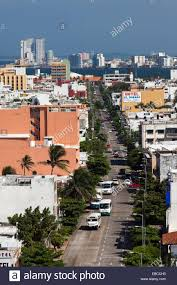 an important avenue of veracruz city a important seaport in