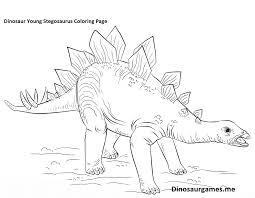 dinosaur young stegosaurus coloring page dinosaur coloring pages
