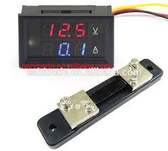 dual led digital dc 0 100v voltmeter u0026 ammeter 50a volt amp panel