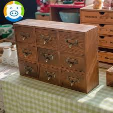 Wood Desk Drawer Organizer Buy Zakka Grocery Retro Wood Old Nine Drawer Organizer Storage
