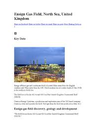 ensign gas field petroleum industry natural gas