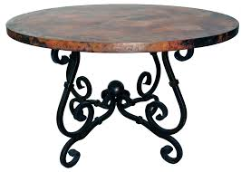 coffee table french console table with copper top wrought iron