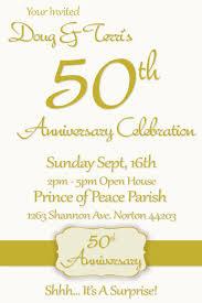 50th wedding anniversary invitations 50th wedding anniversary invitation wording sles 50th