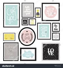 trendy pastel color wall decoration typography stock vector