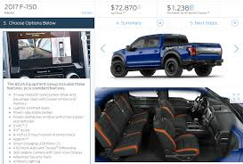 ford raptor prices configure your 2017 ford raptor fully loaded at 72 870 the