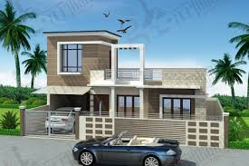 hill side 2 bhk house design plan