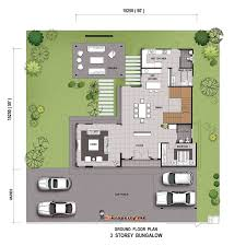single storey bungalow floor plan single story bungalow house plans malaysia homeca