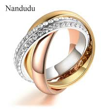 gold nice rings images Nandudu 3 in 1 ring fashion trend nice crystals jewelry gift for jpeg