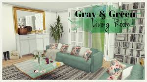 sims 4 gray u0026 green living room room mods for download youtube
