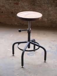 Industrial Adjustable Bar Stools Hand Crafted Industrial Adjustable Drill Press Stool By