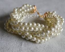 pearl bracelet with gold clasp images Ivory pearl bracelet etsy jpg