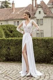 plain wedding dresses 26 wedding dresses with a slit happywedd
