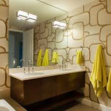 Modern Wallpaper For Bathrooms Bathroom Interior Geometric Wallpaper Tiles With Modern H And