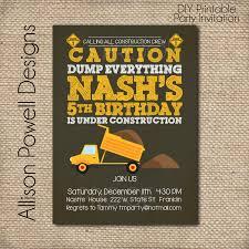 construction birthday party invitations u2013 gangcraft net