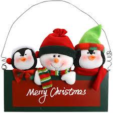 plush snowman penguins