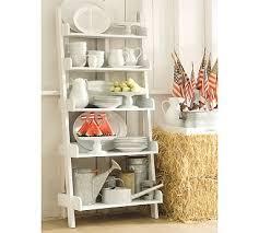 Pottery Barn Leaning Bookcase Unique Pottery Barn White Shelves 37 For Designer Design