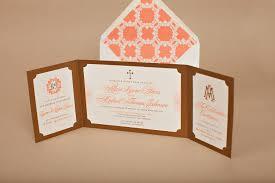 Wedding Invitation Folded Card Monogrammed Wedding Invitations Nico U0026 Lala