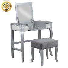 Sei Mirrored Vanity Silver Vanities And Makeup Tables Ebay