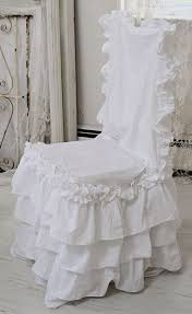 Ruffled Chair Covers Shabby Ruffled Chair Slipcover Shabby Chic Style Chair Slipcover
