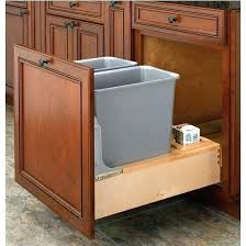 garbage can under the sink tilt out trash can cabinet pull out built in trash cans cabinet