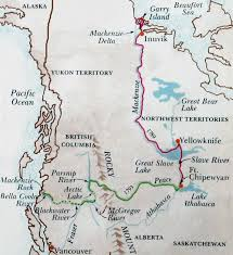 Henry Hudson Route Map by American Fur Trade