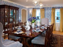Gold Dining Room by Blue Dining Room