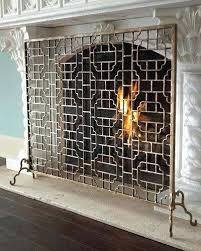 Fireplace Chain Screens - fireplace mesh screen kit home depot canada rods single panel