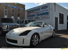 white nissan 350z 2004 nissan 350z touring roadster in pikes peak white pearl