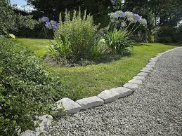 simple dramatic garden edging stones overlooking the pacific with