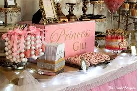 pink princess candy u0026 dessert buffet baby shower
