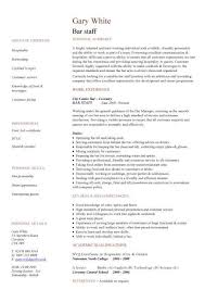 bar staff cv sample dining restaurant resume job application