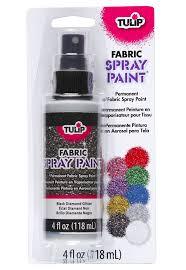 amazon com tulip fabric spray paint 4 ounces black glitter
