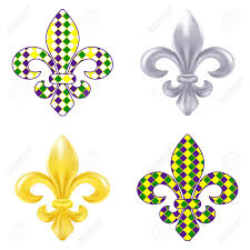 fleur de lis mardi gras set of fleur de lis mardi gras illustration royalty free cliparts